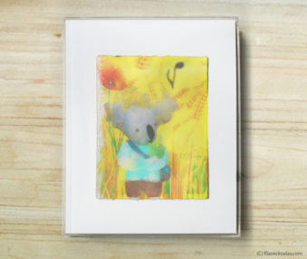 Happy Koalas Watercolor Pastel Painting 8-by-10 Inch Frame 46
