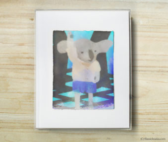 Happy Koalas Watercolor Pastel Painting 8-by-10 Inch Frame 48