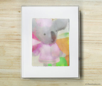 Happy Koalas Watercolor Pastel Painting 8-by-10 Inch Frame 56