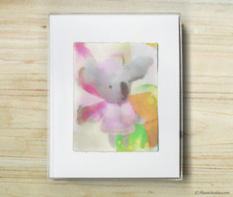 Happy Koalas Watercolor Pastel Painting 8-by-10 Inch Frame 6