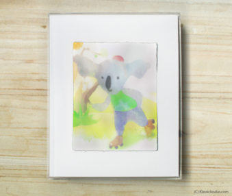 Happy Koalas Watercolor Pastel Painting 8-by-10 Inch Frame 61