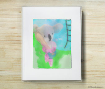 Happy Koalas Watercolor Pastel Painting 8-by-10 Inch Frame 7