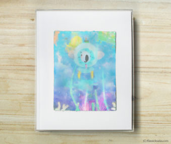 Happy Koalas Watercolor Pastel Painting 8-by-10 Inch Frame 8