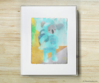 Happy Koalas Watercolor Pastel Painting 8-by-10 Inch Frame 9