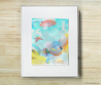 Happy Koalas Watercolor Pastel Painting 8-by-10 Inch Frame35