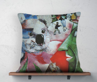 Koala Museum Chagall Linen Pillow 22-by-22 Inches