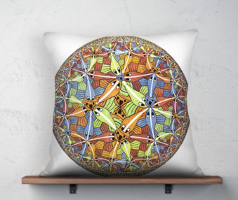 Koala Museum Escher Linen Pillow 22-by-22 Inches