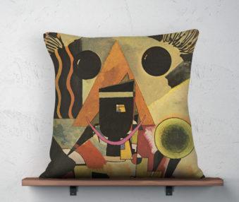 Koala Museum Kandinski Linen Pillow 22-by-22 Inches