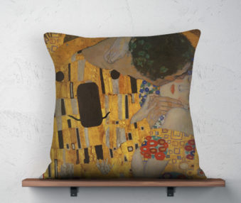Koala Museum Klimt Linen Pillow 22-by-22 Inches 2