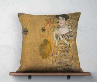 Koala Museum Klimt Linen Pillow 22-by-22 Inches