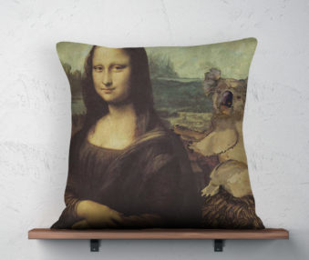 Koala Museum Mona Lisa Pillow 22-by-22 Inches