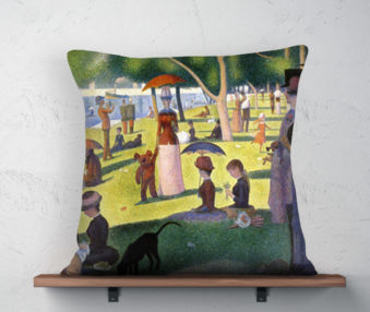 Koala Museum Seurat Linen Pillow 22-by-22 Inches