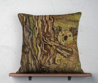 Koala Museum Van Gogh Linen Pillow 22-by-22 Inches