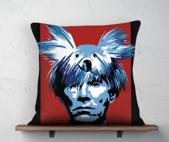 Koala Museum Warhol Linen Pillow 22-by-22 Inches