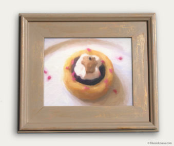 Koala-Shape Recipe Painting 11-by-14 Driftwood Gallery Frame 1