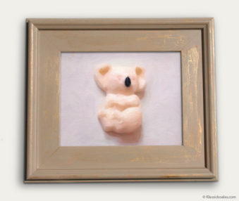 Koala-Shape Recipe Painting 11-by-14 Driftwood Gallery Frame 11