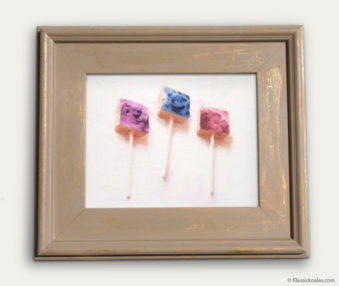 Koala-Shape Recipe Painting 11-by-14 Driftwood Gallery Frame 14