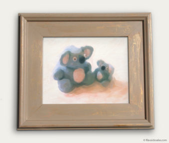 Koala-Shape Recipe Painting 11-by-14 Driftwood Gallery Frame 15