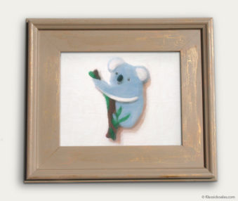 Koala-Shape Recipe Painting 11-by-14 Driftwood Gallery Frame 16