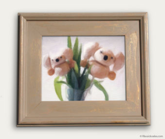 Koala-Shape Recipe Painting 11-by-14 Driftwood Gallery Frame 2
