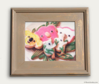 Koala-Shape Recipe Painting 11-by-14 Driftwood Gallery Frame 20