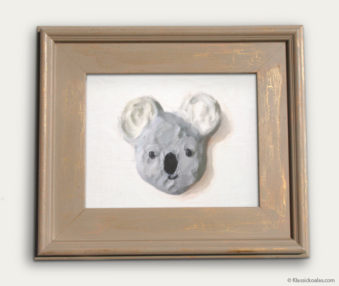Koala-Shape Recipe Painting 11-by-14 Driftwood Gallery Frame 21