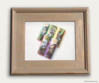 Koala-Shape Recipe Painting 11-by-14 Driftwood Gallery Frame 22