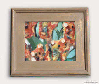 Koala-Shape Recipe Painting 11-by-14 Driftwood Gallery Frame 23