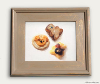 Koala-Shape Recipe Painting 11-by-14 Driftwood Gallery Frame 24