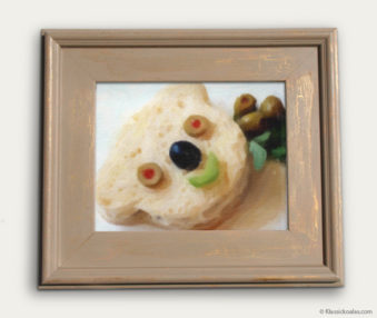 Koala-Shape Recipe Painting 11-by-14 Driftwood Gallery Frame 26