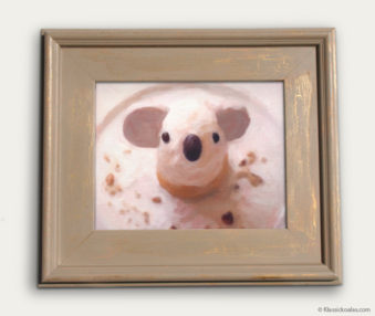 Koala-Shape Recipe Painting 11-by-14 Driftwood Gallery Frame 4