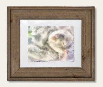 Koala Watercolor Painting 11-by-14 Barnwood Frame H 4