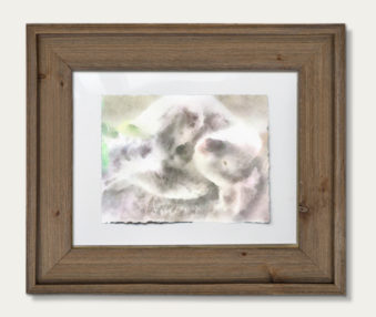 Koala Watercolor Painting 11-by-14 Barnwood Frame H 5