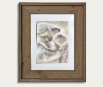 Koala Watercolor Painting 11-by-14 Barnwood Frame V 10