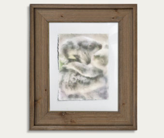 Koala Watercolor Painting 11-by-14 Barnwood Frame V 11