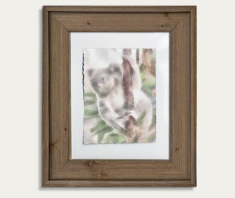 Koala Watercolor Painting 11-by-14 Barnwood Frame V 15