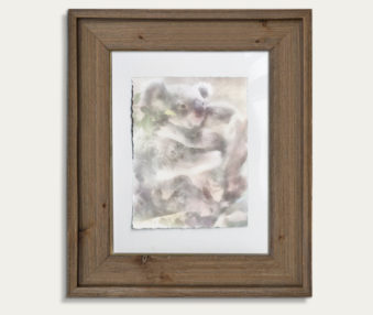 Koala Watercolor Painting 11-by-14 Barnwood Frame V 16