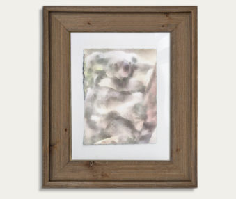 Koala Watercolor Painting 11-by-14 Barnwood Frame V 17