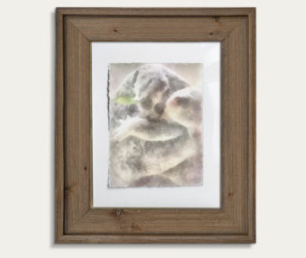 Koala Watercolor Painting 11-by-14 Barnwood Frame V 23