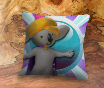 Magic Koalas App Icon 22-Inch Linen Pillow