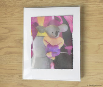 Magic Koalas Watercolor Pastel Painting 11-by-14 Inch Frame 1