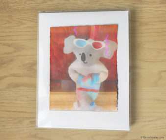 Magic Koalas Watercolor Pastel Painting 11-by-14 Inch Frame 11