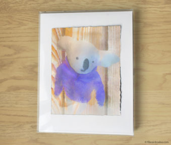 Magic Koalas Watercolor Pastel Painting 11-by-14 Inch Frame 12