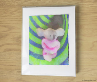 Magic Koalas Watercolor Pastel Painting 11-by-14 Inch Frame 15
