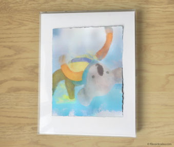 Magic Koalas Watercolor Pastel Painting 11-by-14 Inch Frame 16