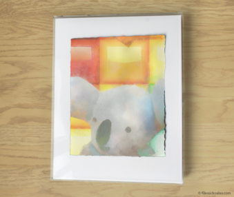 Magic Koalas Watercolor Pastel Painting 11-by-14 Inch Frame 17