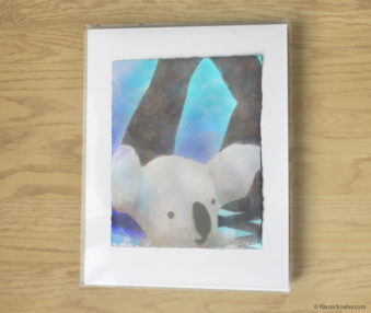 Magic Koalas Watercolor Pastel Painting 11-by-14 Inch Frame 20