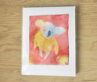 Magic Koalas Watercolor Pastel Painting 11-by-14 Inch Frame 21
