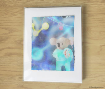 Magic Koalas Watercolor Pastel Painting 11-by-14 Inch Frame 22