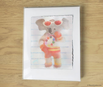 Magic Koalas Watercolor Pastel Painting 11-by-14 Inch Frame 23